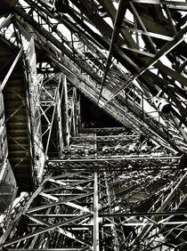 Inside the Eiffel Tower by Melinda Szente