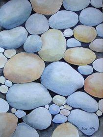 Steine am Strand von Maria Földy