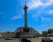 Colonne de Juillet and Opera de Paris Bastille by Louise Heusinkveld
