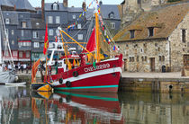 The historic fishing village of Honfleur, France. von Louise Heusinkveld