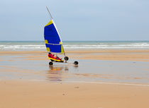 Land Sailing on Omaha Beach by Louise Heusinkveld