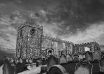 St Marys Church Whitby, Mono by John Biggadike