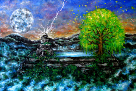 The-tree-of-life-oil-paints-on-canvas-15-x-24-may-2012-john-lanthier
