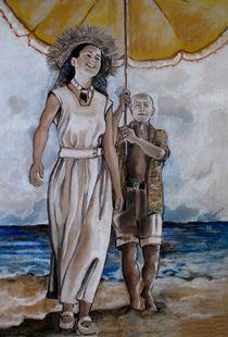 Francoise Gilot und Pablo Picasso by Marion Hallbauer