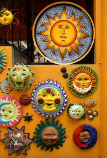 SUNNY WALL San miguel de Allende Mexico von John Mitchell