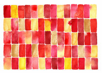 Picnic Watercolor Geometric Abstract by Nic Squirrell