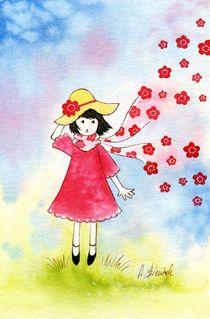 Escaping Flowers by Anna Bieniek