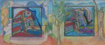Trapped in Time 2 Diptych von John Powell