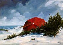Roter Schirm von Daniel Wimmer