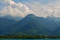 mountain and the lake  by Vsevolod  Vlasenko