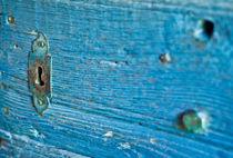 Vintage turquois - Schlüsselloch von Katharina Weigl