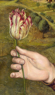 Girl with tulip.Detail with tulip. by Victoria Francisco
