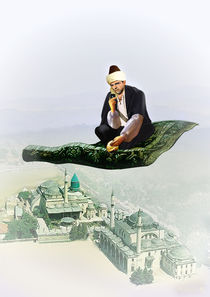 Sheikh on Magic Carpet with iPhone by Mohamed El-Fers