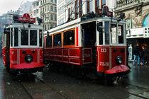 Old Tram in Istanbul Taksim 2 by Engin Sezer