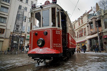 Old Tram in Istanbul Taksim 1 by Engin Sezer