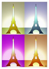 Eiffel Tower in the light von Printed in Paris