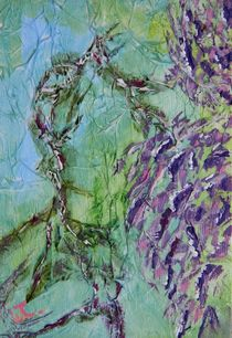 Purple Wisteria Abstract 2 von Warren Thompson