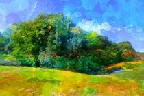 Expressive Landschaft von Lutz Baar
