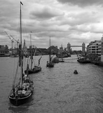 Thames Barges Tower Bridge 2012 by David J French