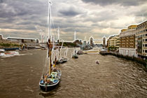 Thames Barges Tower Bridge 2012 von David J French