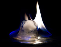 Flaming Ice von Debbie  White