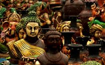 Buddha in the crowd by sankarshan  sen