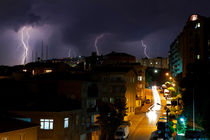 Lightning Bolts in Istanbul Camlica by Engin Sezer