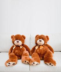 Two Teddybears by Lars Hallstrom