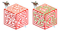 Horseriding cubic maze by William Rossin