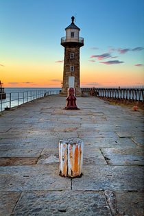 Witby East Pier and Lighthouse by Martin Williams