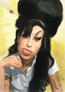 Amy Winehouse portrait by Carlos Carriles Olivé