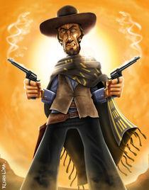 Clint Eastwood Caricature von Renan Lima