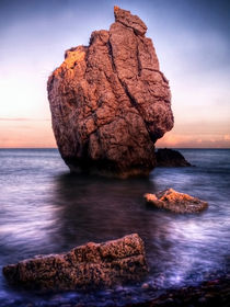 Sunset On Aphrodite's Beach by Amanda Finan