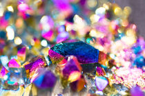 Colored gypsum crystals - farbige Kristalle by Tobias Pfau