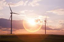 wind turbines sun down - windräder von Tobias Pfau