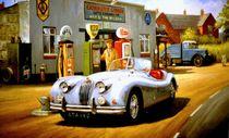 Jaguar XK 140. by Mike Jeffries