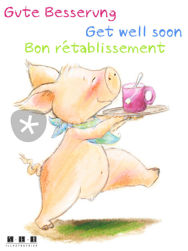 Gute Besserung Bon rétablissement Get well soon\