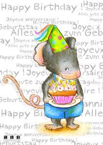 Maus Alles gute zum Geburtstag! Happy Birthday ! Joyeux anniversaire ! von sarah-emmanuelle-burg