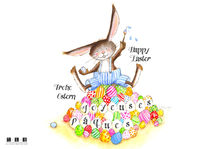 Happy Easter, joyeuses Pâques, Frohe Ostern by sarah-emmanuelle-burg