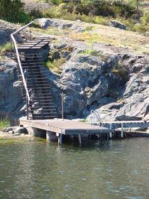 Treppenaufgang einer Schäre vor Stockholm von Ka Wegner