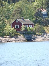Haus auf einer Schäre vor Stockholm von Ka Wegner