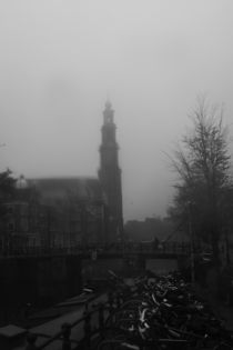 Anne Frank's Westerkerk in The Rain by Kelsey Horne
