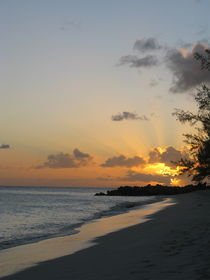 Dover Beach Sunset Barbados by Kelsey Horne