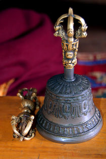 Bell and Vajra Pisang Monastery by serenityphotography