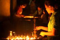 Butter-lamps-at-night-boudha-stupa