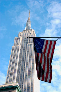 Empire State and American Flag by Kelsey Horne