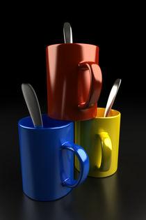 Drei Tassen, leer by dresdner
