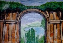 Torbogen mit Landschaft von Marie Luise Strohmenger