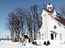 White Chapel In Hokkaido von Sanchez Lam