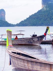 boats in Thailand sea by Wilma Traldi